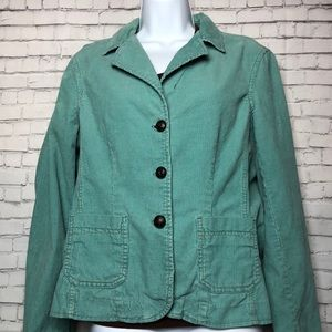 Mossimo Supply Co. Corduroy Teal 3 Button Jacket